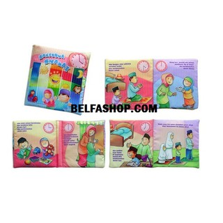 Buku bantal kain softbook bayi Waktunya Sholat