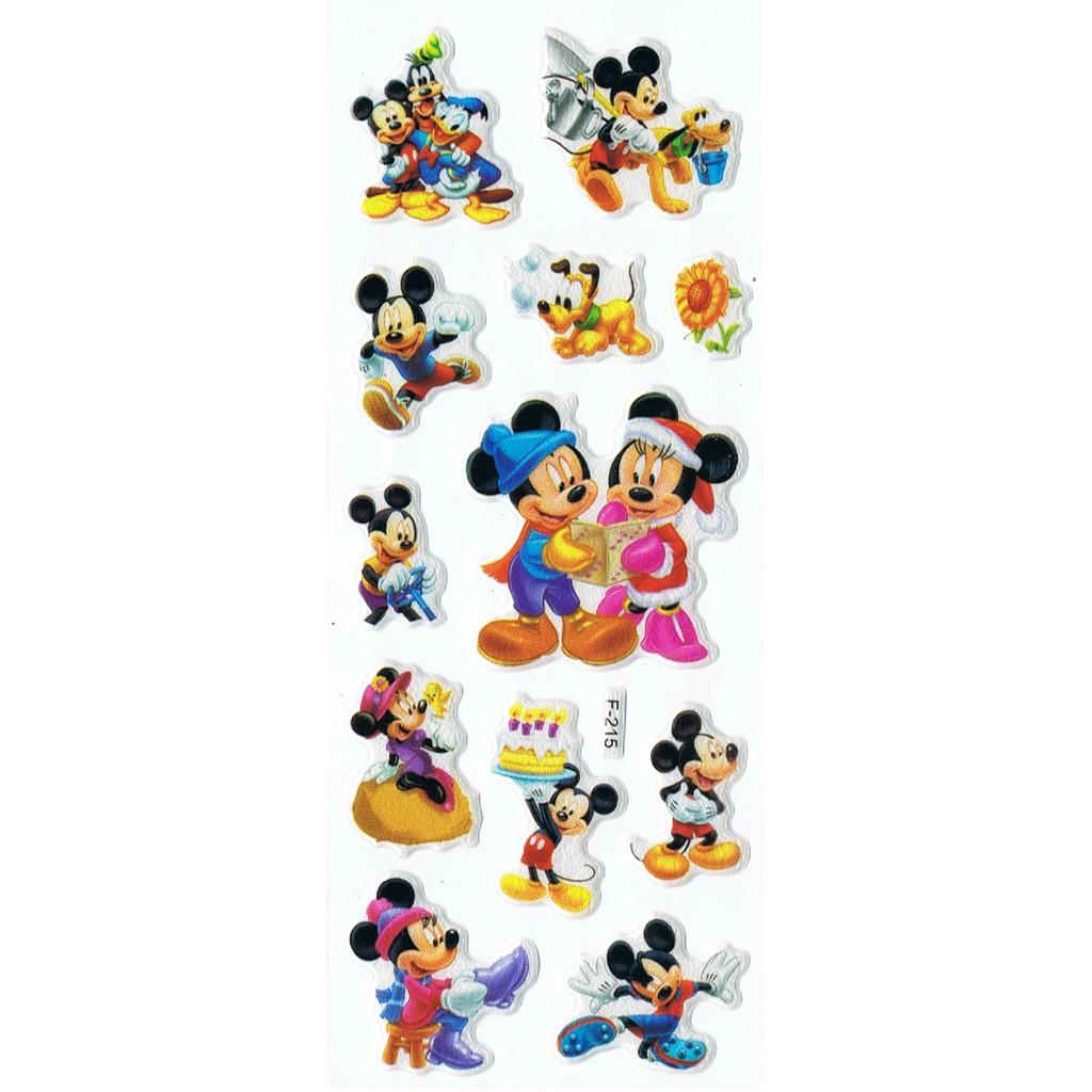 SK001 Stiker Sticker Timbul Set Strip Aneka Gambar Kartun Anak Mickey