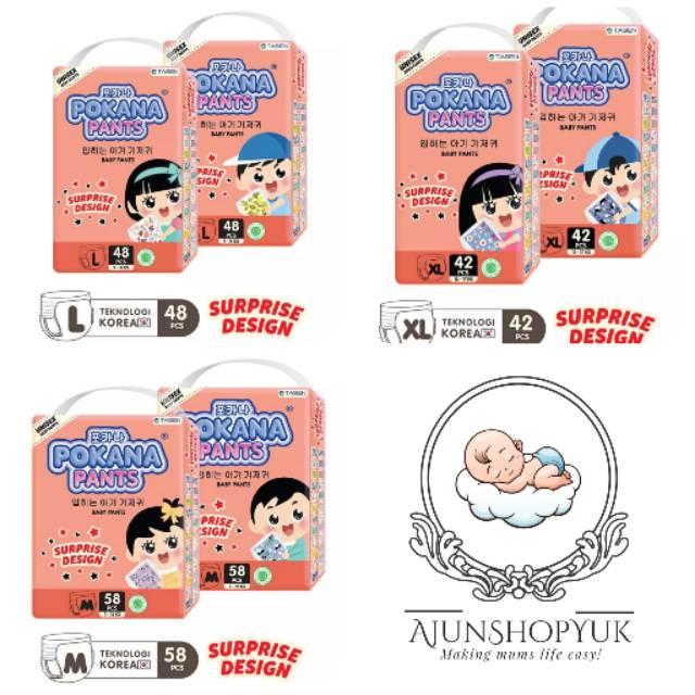 POKANA Popok Pants Reguler XL 20 Random Surprise Design   Shopee Indonesia
