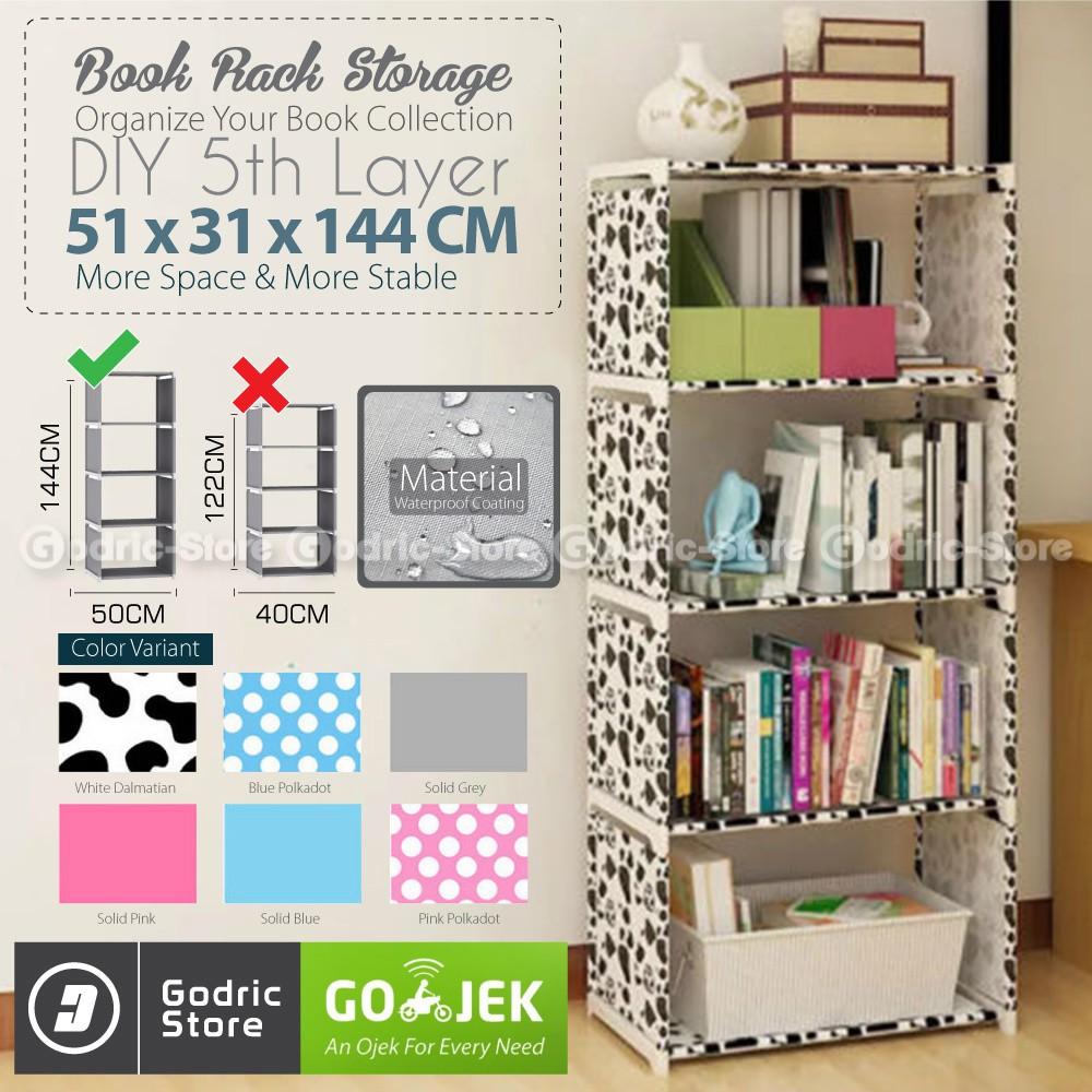 Free Ongkir Khusus Jabodetabek Funika 13226 Dbr Rak Buku 5 Kotak 13225 Ex Meja Komputer Dengan Coklat Tua Shopee Indonesia