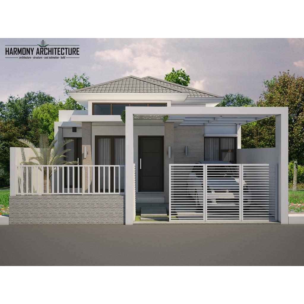 Desain Rumah Minimalis Modern 1 Lantai Lahan 7 5 X 20 Shopee Indonesia