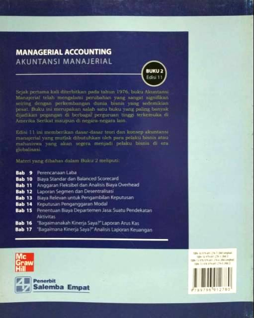 Kunci Jawaban Akuntansi Manajerial Hansen Mowen Buku 2 Edisi 8 Ilmusosial Id