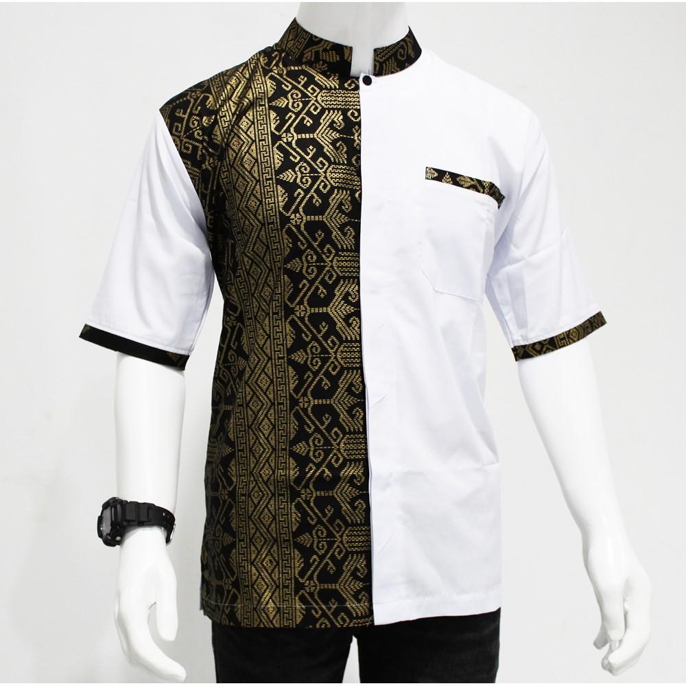kemeja koko Model Baju Batik pria modern / Hem Batik Kombinasi ...