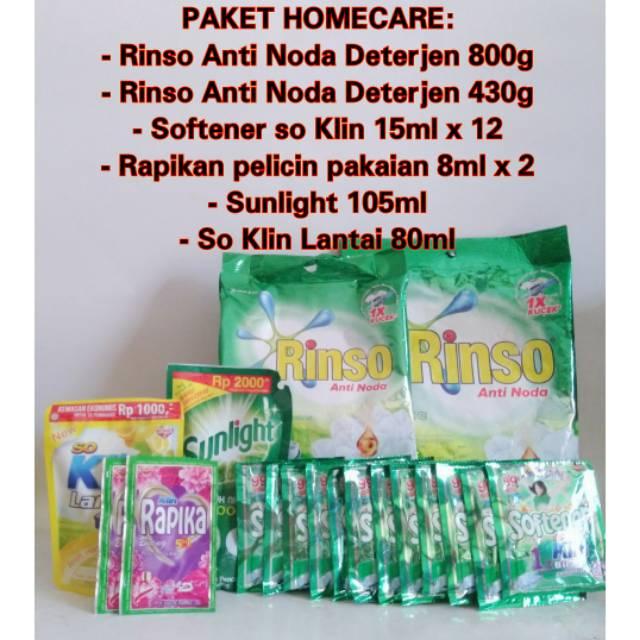 Paket Homecare Rinso Anti Noda Deterjen Shopee Indonesia