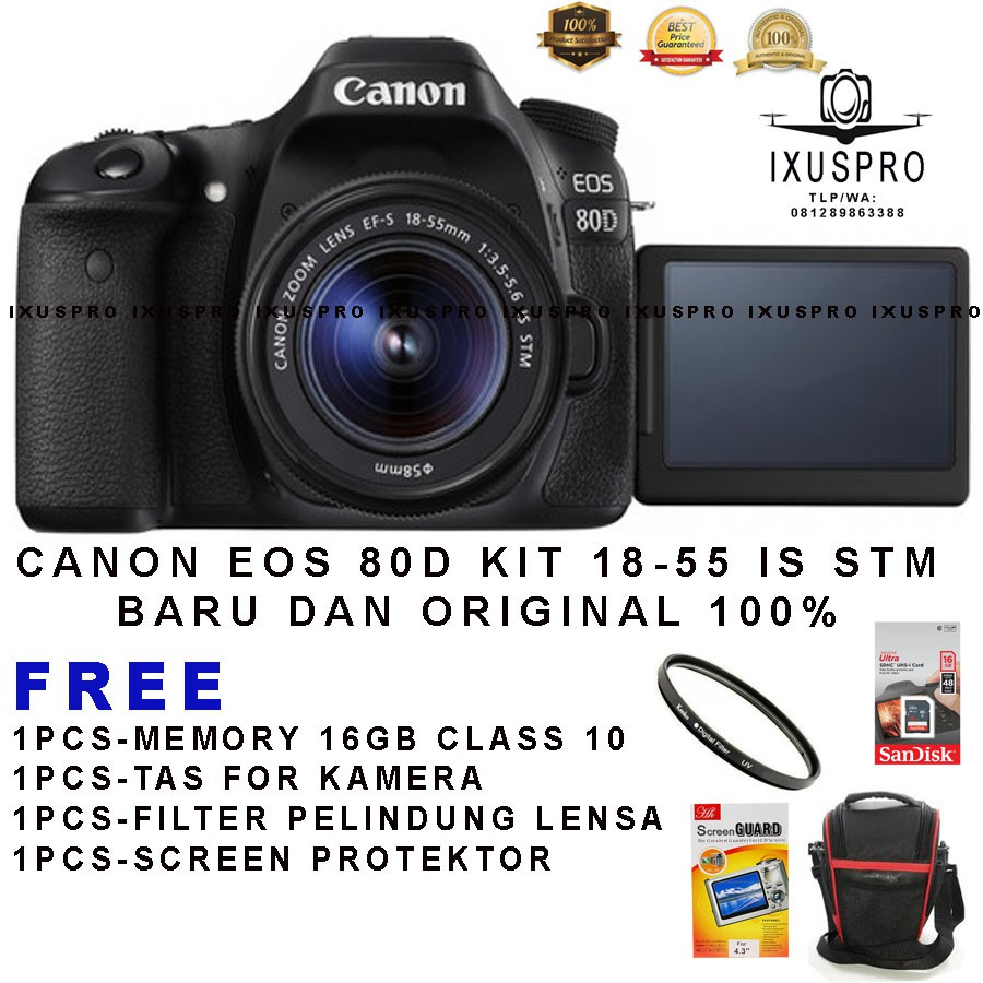 Canon Eos 100d Kit 18 55 Is Stm 100 D Shopee Indonesia