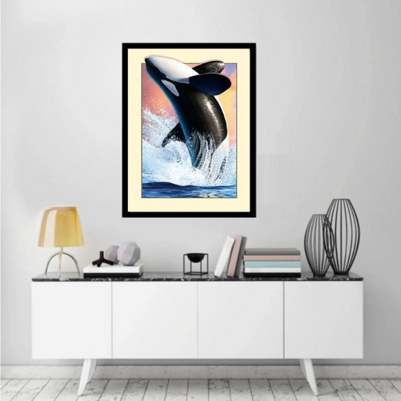Diy Lukisan Diamond 5d Dengan Gambar Ikan Paus Dan Hiasan Berlian