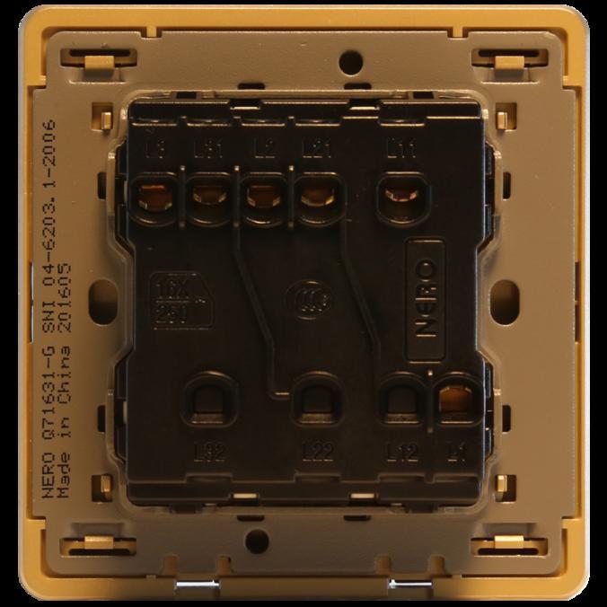 NERO Saklar DECORA Q7 Q71632D-G Gold .