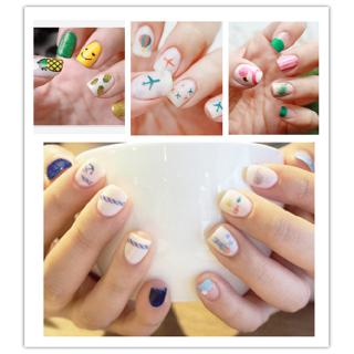 Nail Sticker Kuku Cartoon Nail Lucu Unik Stiker Kuku Nail Art thumbnail