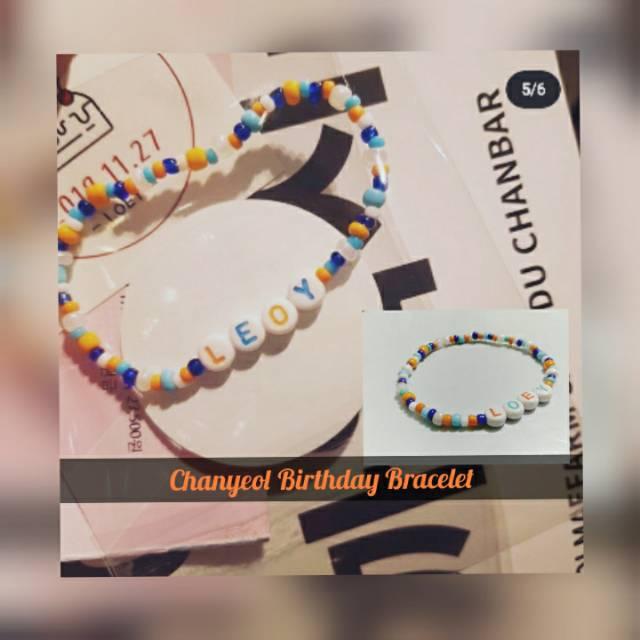 Chanyeol Birthday Bracelet Gelang Exo Gelang Chanyeol Gelang Loey Free Pc Member Exo Shopee Indonesia