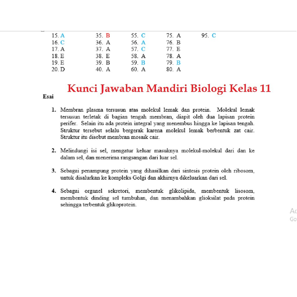 Buku Mandiri Biologi Sma Jilid 2 Kelas 11 K13 Soal Jawaban Kurtilas Shopee Indonesia