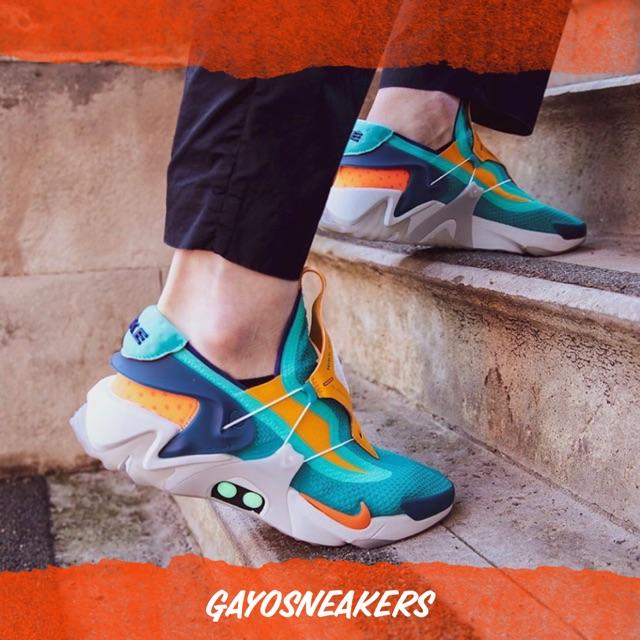 Nike Adapt Huarache Hyper Jade Total Orange Shopee Indonesia