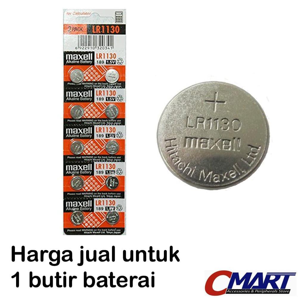 Maxell LR1130 (189, LR54, AG10) Alkaline Button Battery - MXL-LR1130