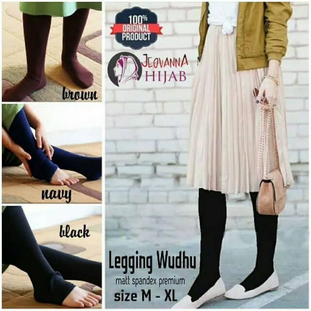 Jeovanna Legging Wudhu Alica Dark Gray M11720 R14s6 R35s7 Paling Termurah Terlaris Shopee Indonesia