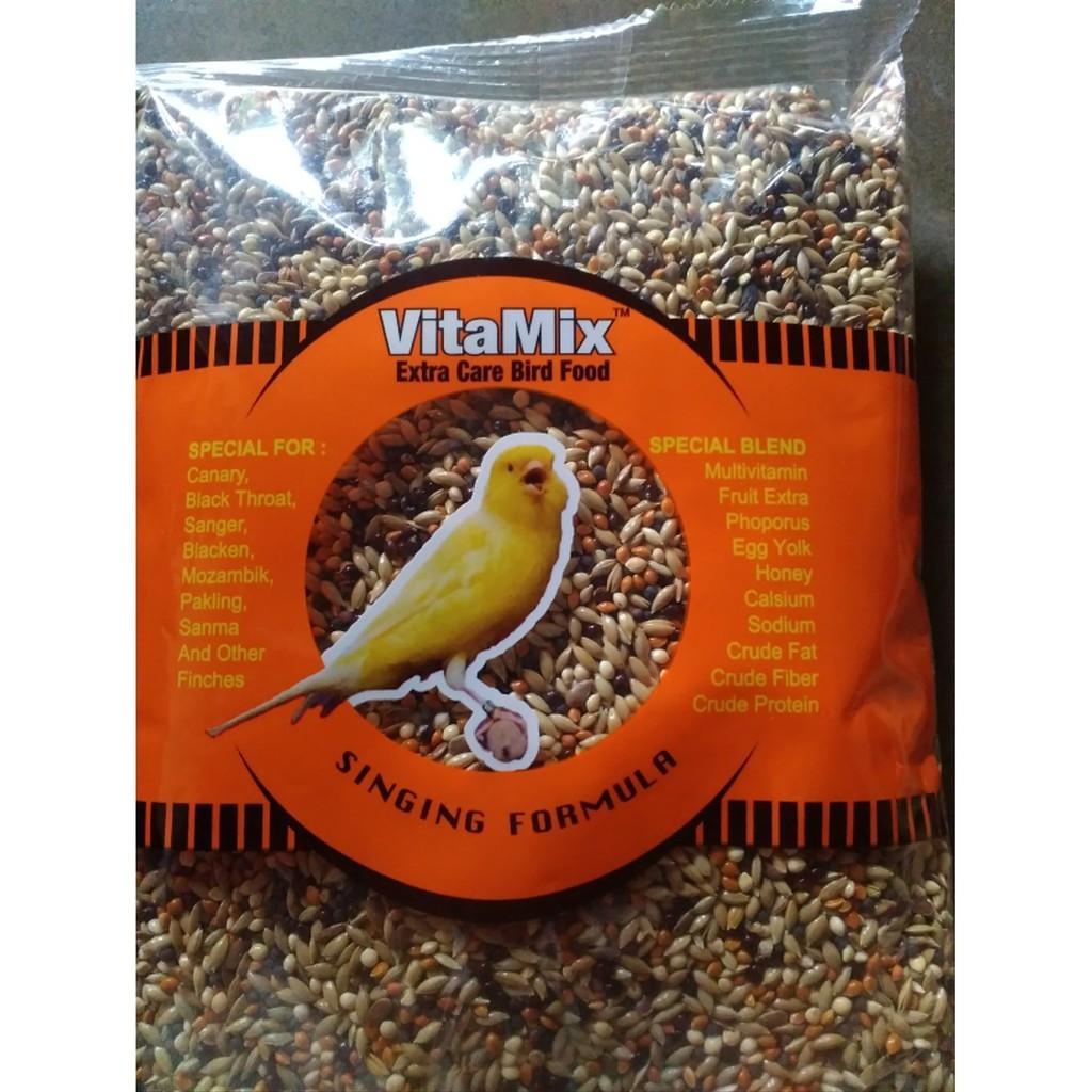 Pakan Makanan Harian Burung Kenari Blackthroat Finch Biji Milet Millet Vitamix Vita Mix Phoenix Shopee Indonesia