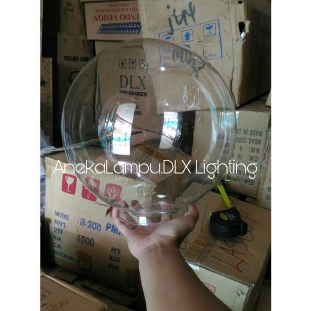 Hanya Kaca Diameter 30 Cm Lampu Taman Bulat Bening Bola Dlx Lighting Shopee Indonesia