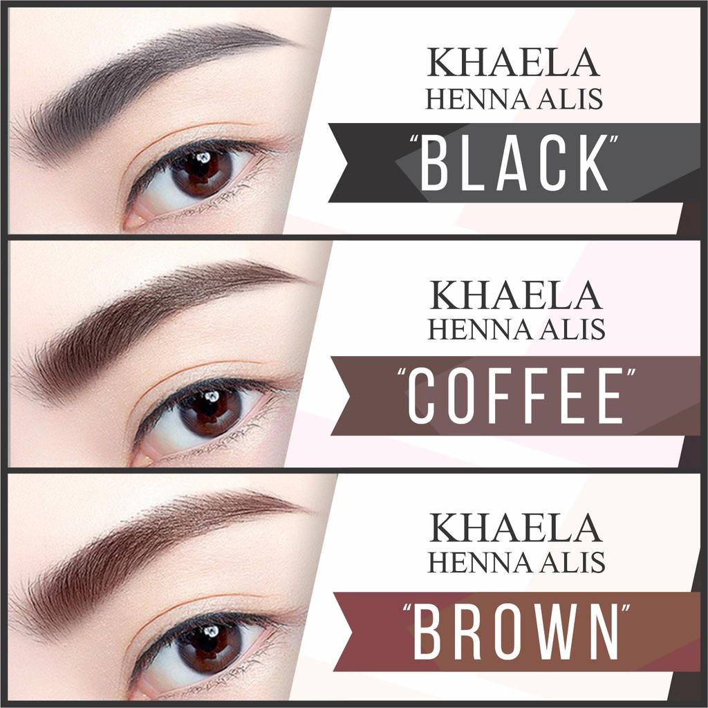 Paket Henna Alis Dan Henna Bibir By Khaela Henna Free Kuas Mini Shopee Indonesia