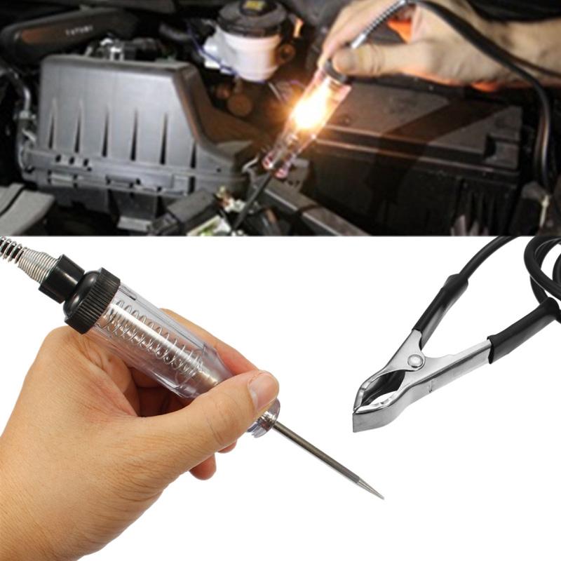 Car Circuit Tester Probe Continuity Fuse Test Light 6v 12v 24v DC Voltage Tester