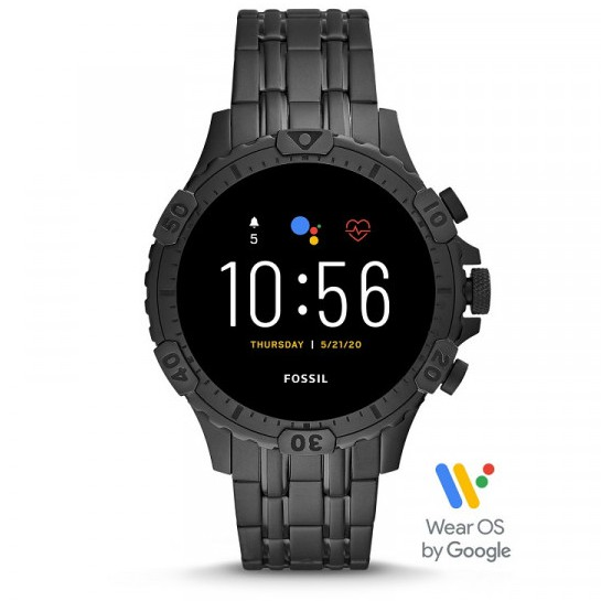 Jam Tangan Pria Fossil Smartwatch FTW4038 Full Black Original
