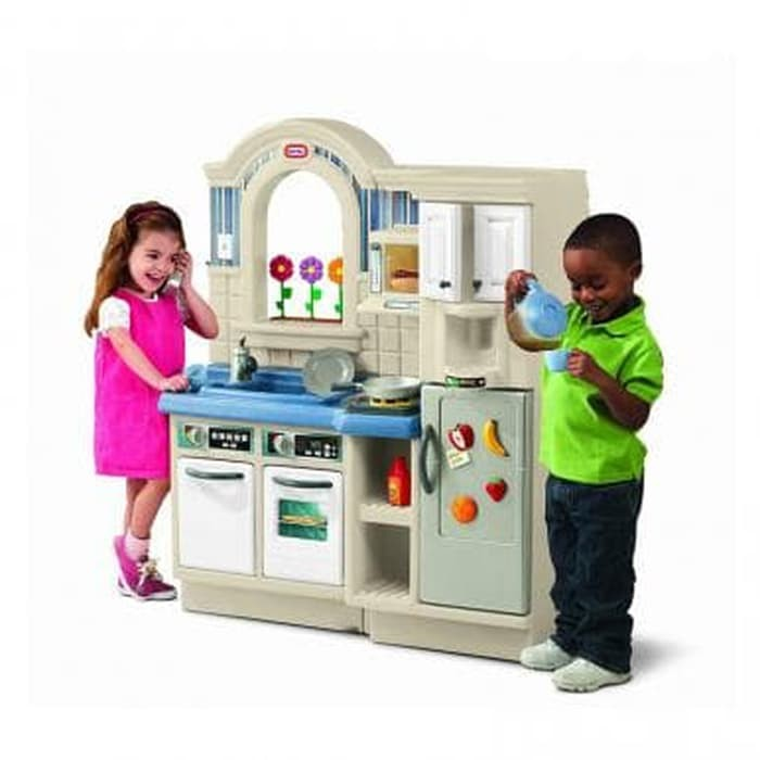 Little Tikes Indoor Outdoor Cook N Grill Kitchen 450b Mainan Shopee Indonesia
