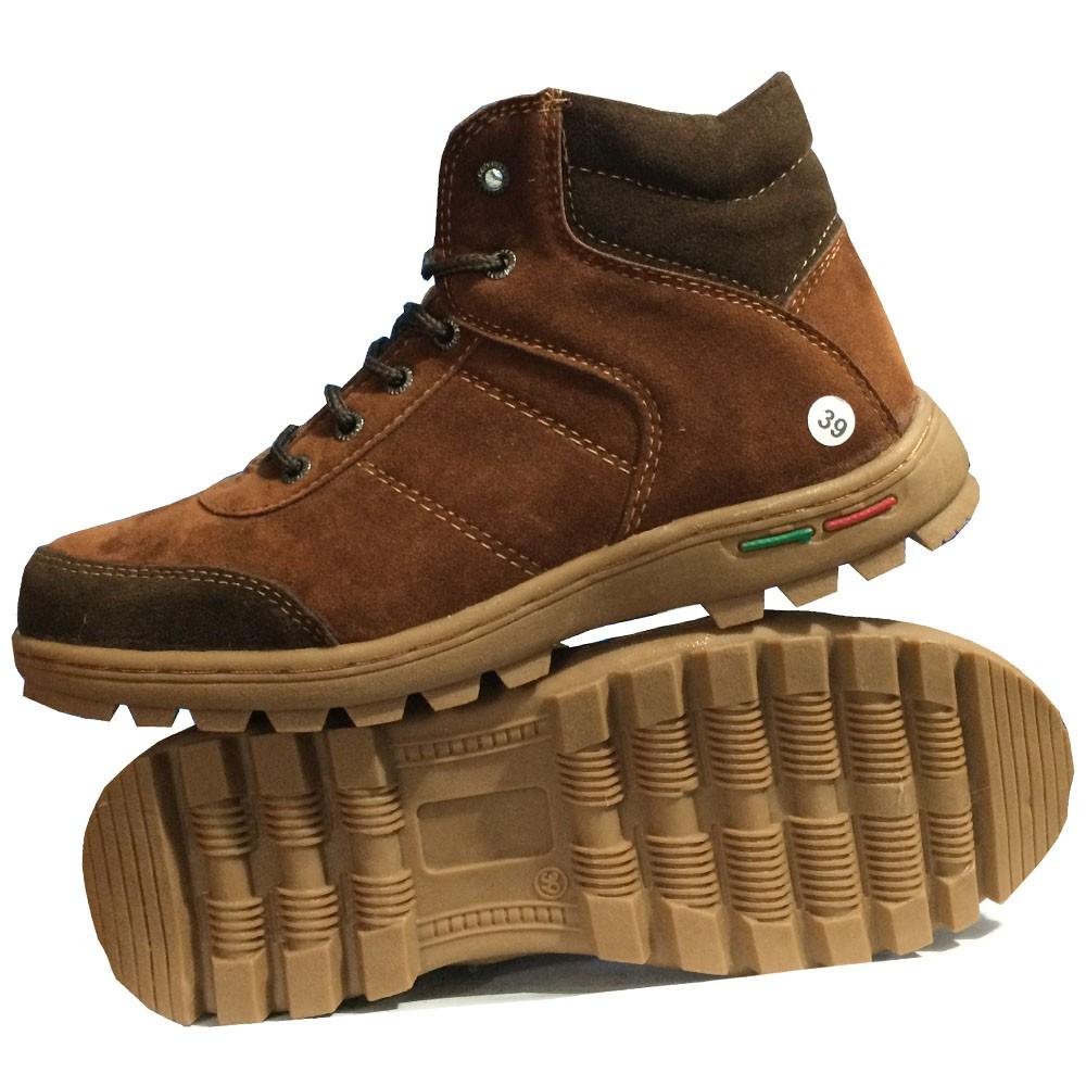 EWN Sepatu Boots Pria   Sepatu Biker   Sepatu Hiking - Cokelat ... 862d0bf167