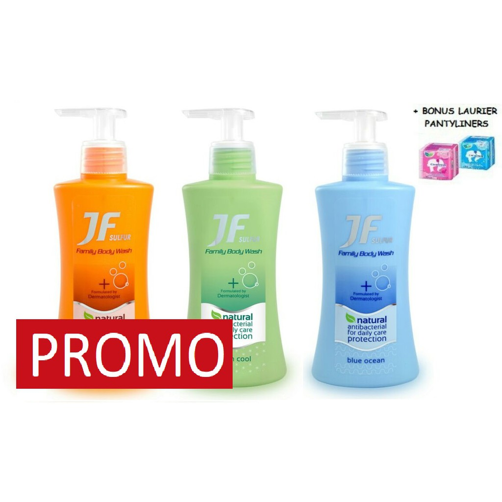 Sabun Sulfur Jf Family Body Wash Green Cool Bottle 200 Ml Buy 4 Get 1 Free Oilum Hydrating Care Cleansing Pouch Shopee Indonesia