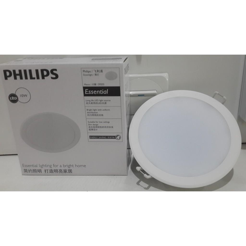 Hasil gambar untuk Philips Essential Meson LED Lampu Downlight Philips