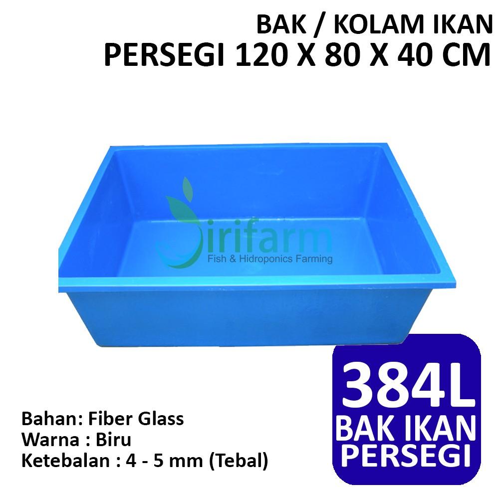 Jirifarm Bak Kolam Ikan Persegi 120 X 80 X 40 Cm 384 Liter