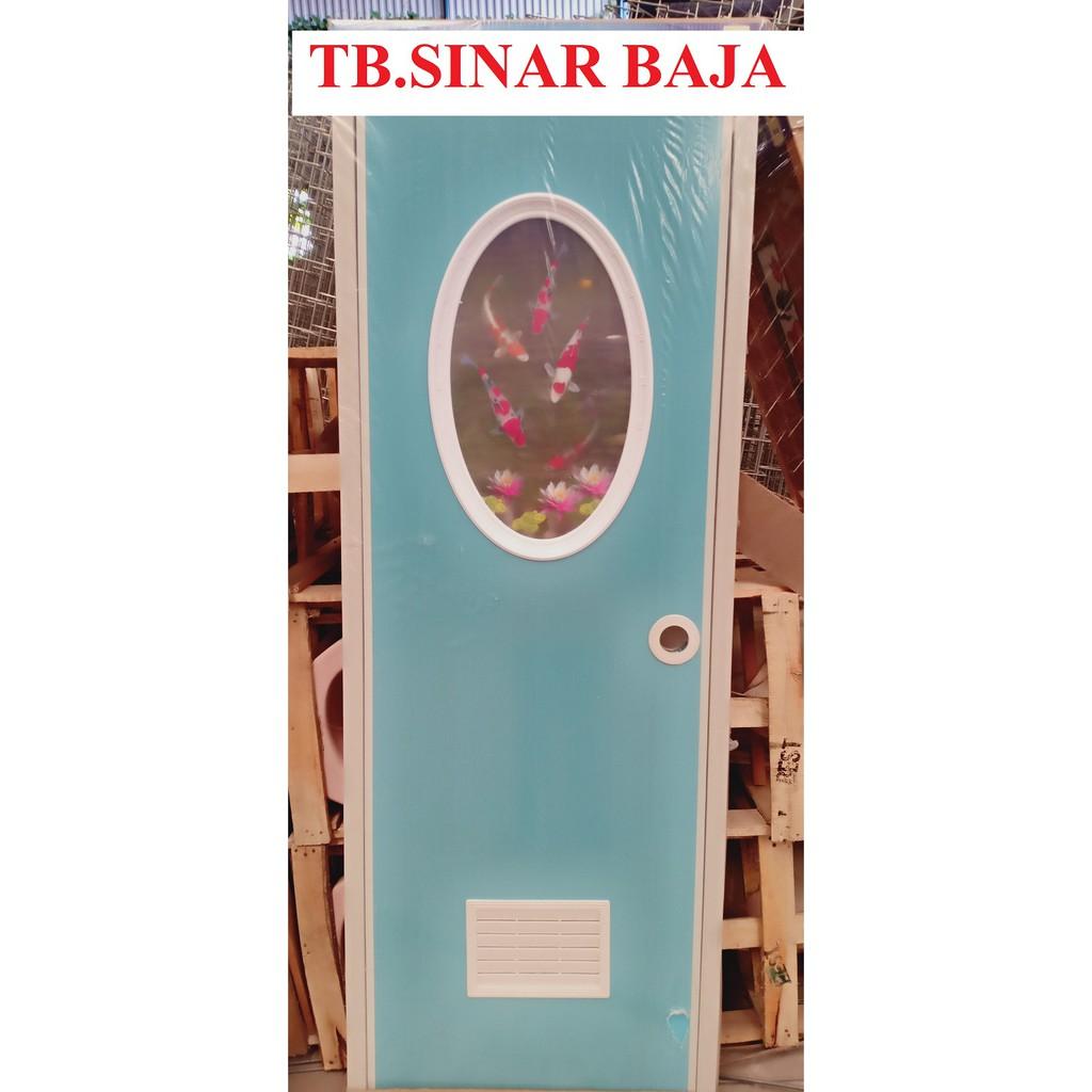 Pintu Pvc Warna Kaca Oval Pintu Kamar Mandi Shopee Indonesia Pintu kamar mandi plastik