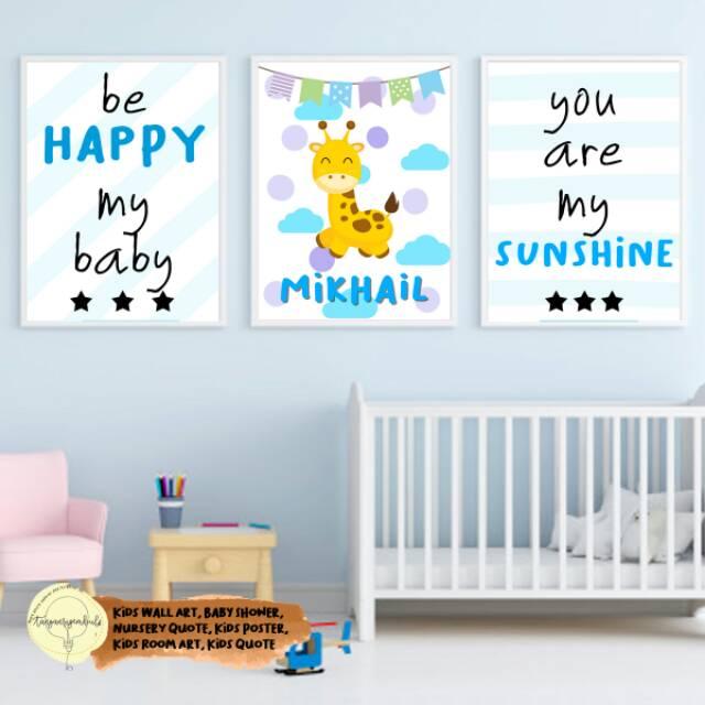 Baby Kids Room Wall Art Decoration Shopee Indonesia