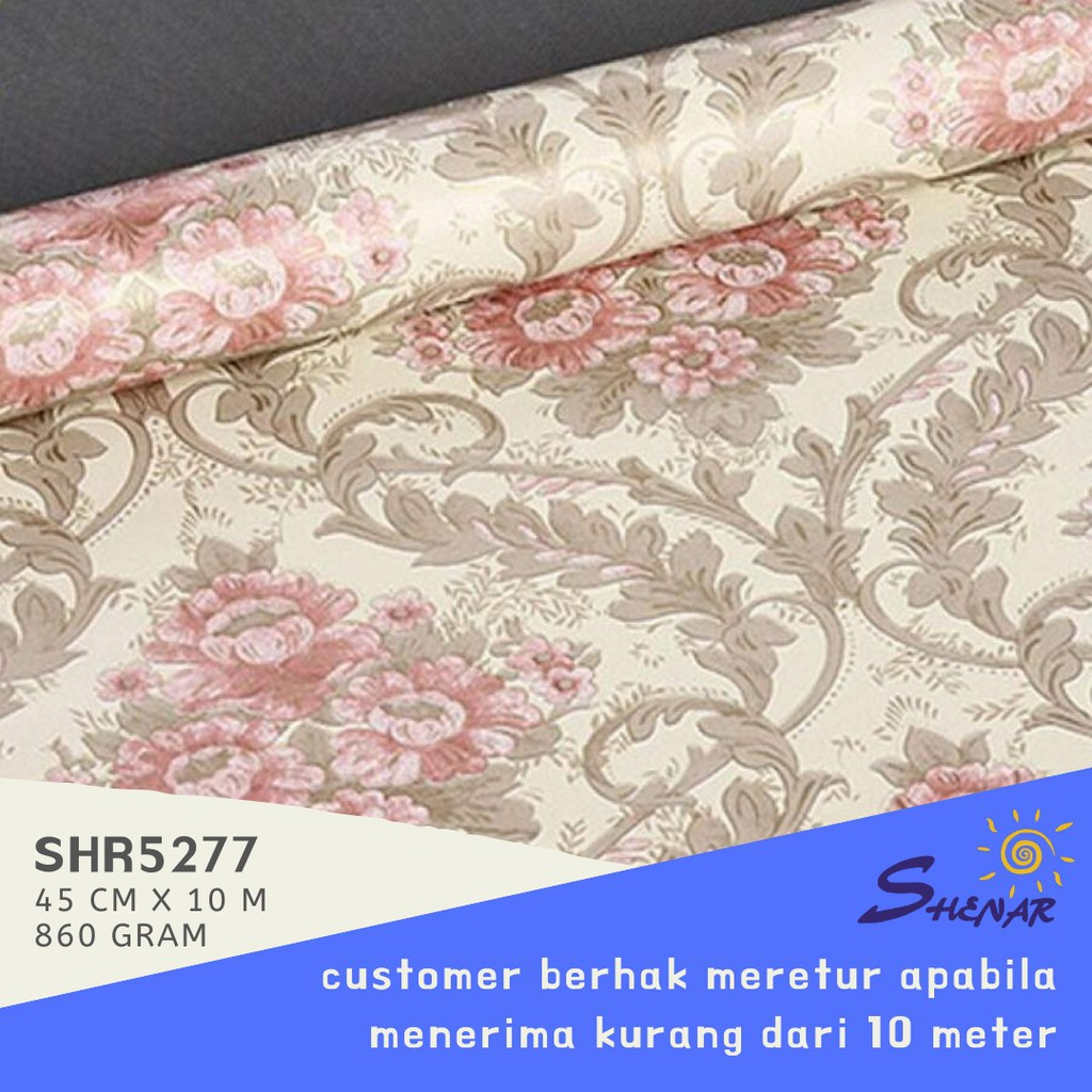 TERMURAH WALLPAPER STICKER 45CM X 10M WALLPAPER KAMAR WALLPAPER STICKER MOTIF WALL PAPER SHENAR