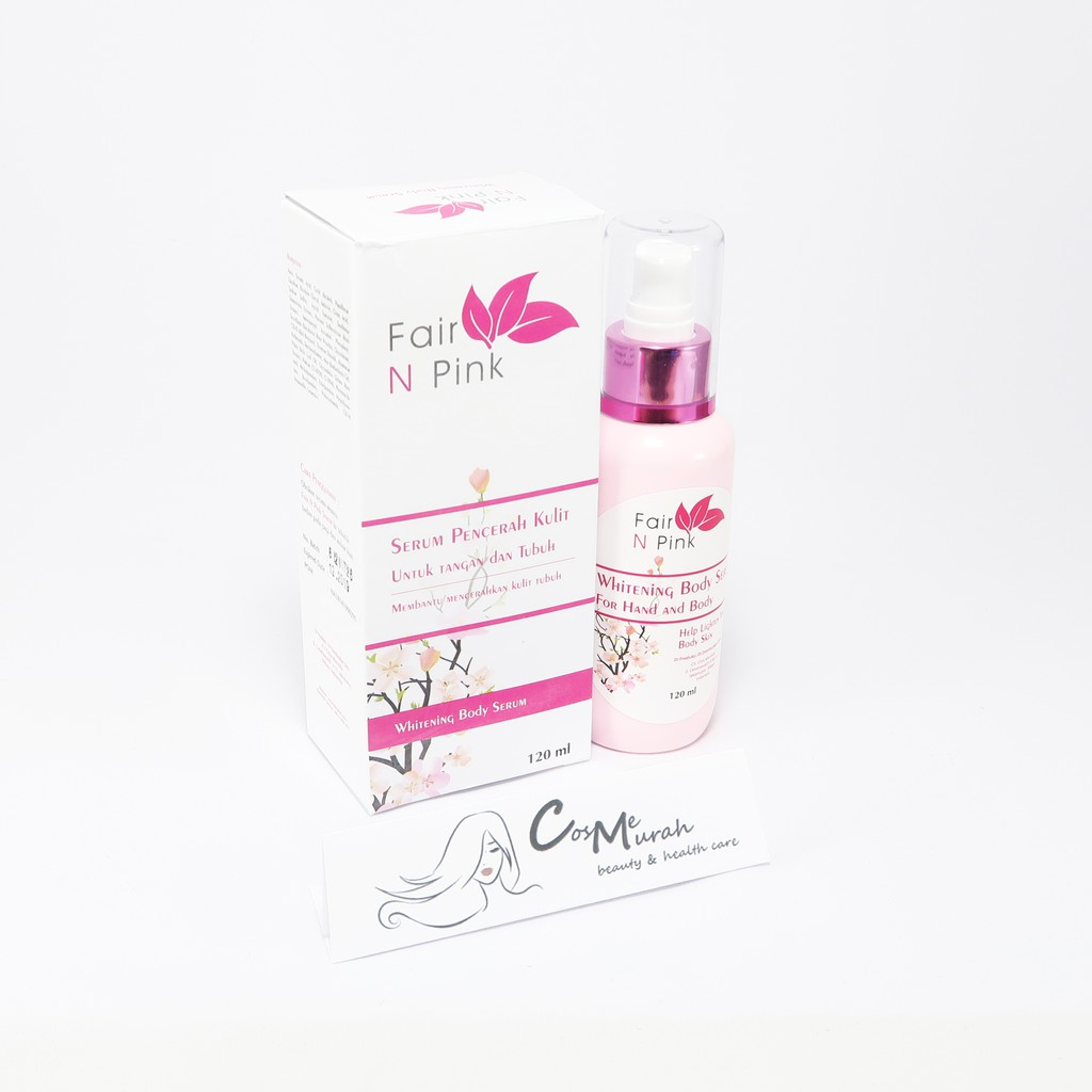 Serum Badan Fair N Pink Besar 160ml Fnp Whitening Body 100 Original Shopee Indonesia