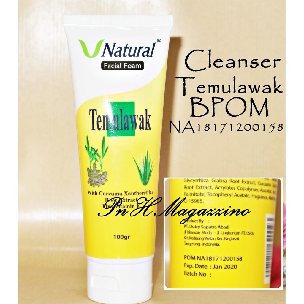 TEMULAWAK V NATURAL FACIAL FOAM BPOM / CLEANSER TEMULAWAK V NATURAL BPOM   Shopee Indonesia