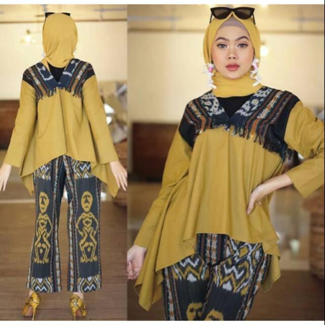 Stelan Tenun Ikat Troso Baju Tenun Troso Tenun Ikat Jepara Yuma Series Shopee Indonesia