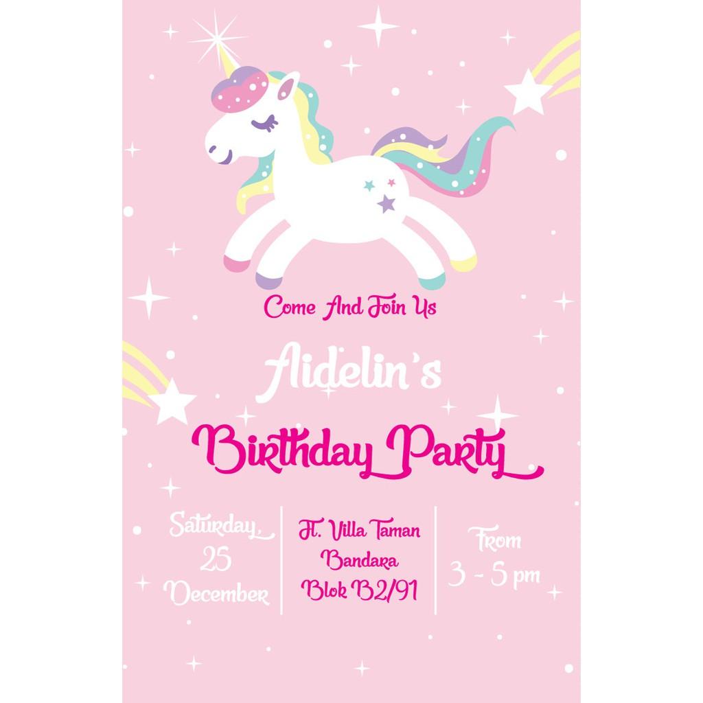 Undangan Ulang Tahun Unicorn 3