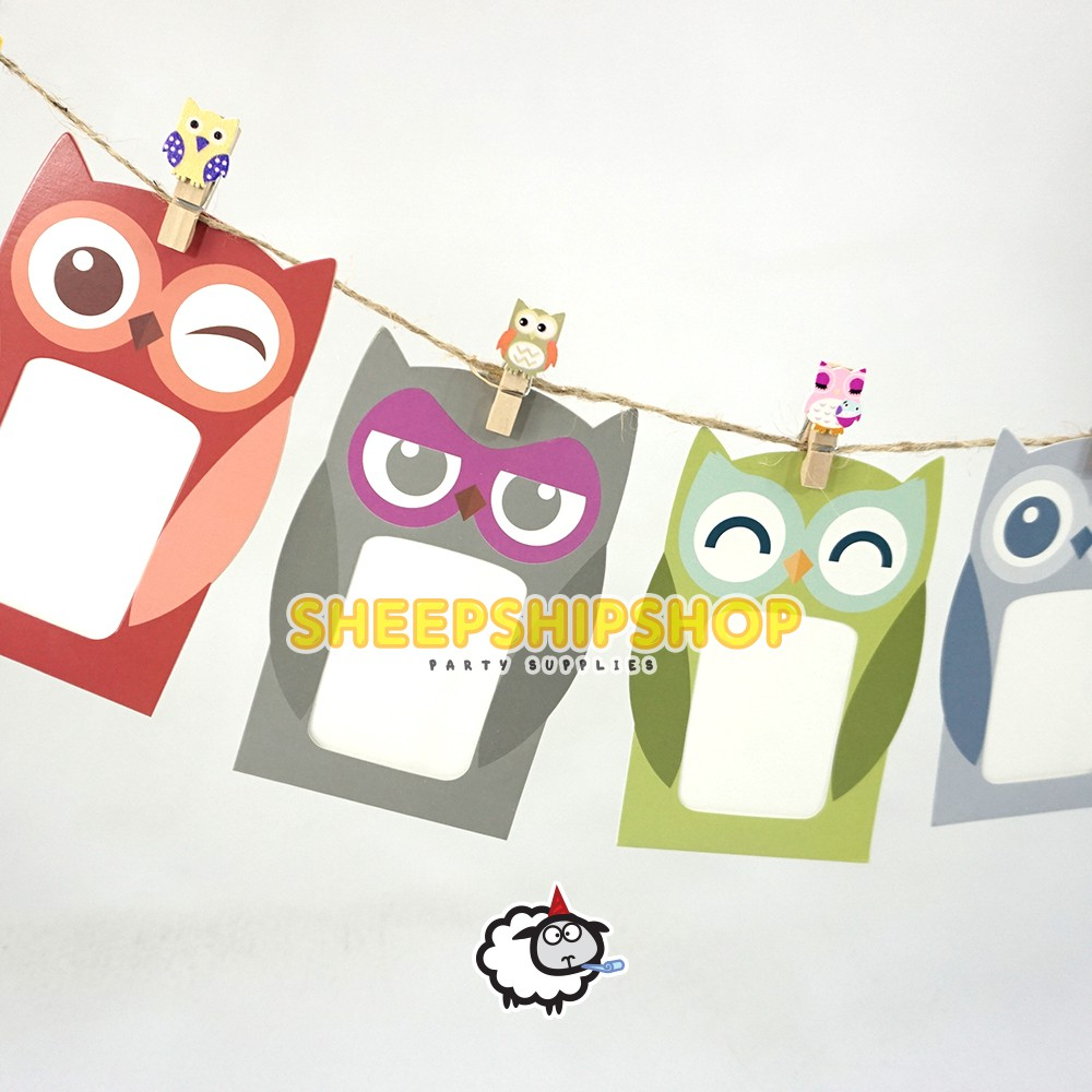 Picture Frame Owl Pigura Foto 2r Kertas Karton Art Paper
