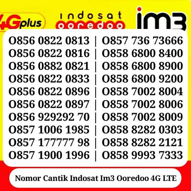 Nomor Cantik Im3 Indosat 0858 43 567890 Angka Naik Urut Rapih Pilihan Terbaik | Shopee Indonesia