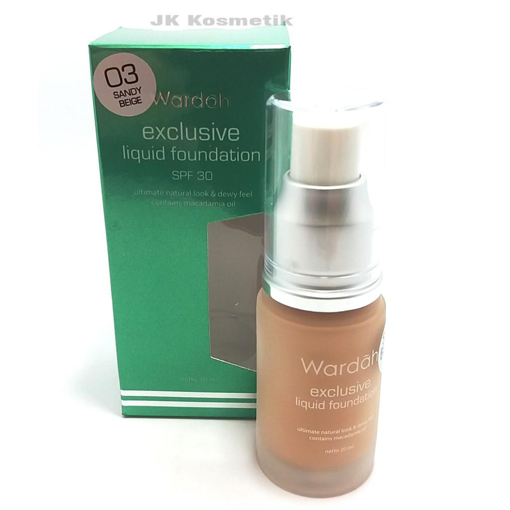 Wardah EXCLUSIVE Liquid Foundation 03 Sandy Beige 20 ml | Shopee Indonesia