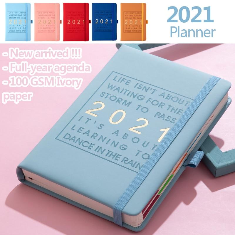 Buku Catatan Agenda 2021 Jan Dec Bahasa Inggris Bahan Kulit Tebal Ukuran A5 Untuk Sekolah Shopee Indonesia