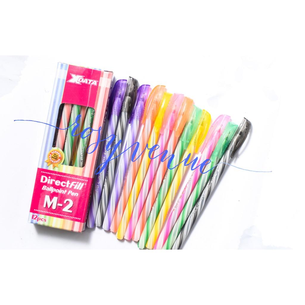 Pen Pena Bolpen Bolpoin Pulpen Xdata M 2 Directfill Murah Bagus Tanpa Macet Shopee Indonesia