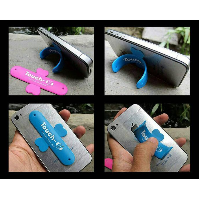Aksesoris HP Touch U standing Stand Holder Lazy pod meja | Shopee Indonesia