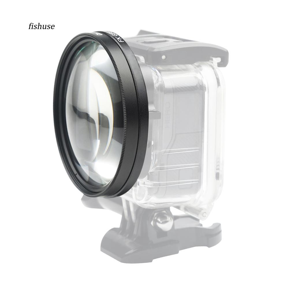 58mm Magnifier 10X Macro Close Up Lens for GoPro Hero 6 5 Black Camera Case Go P