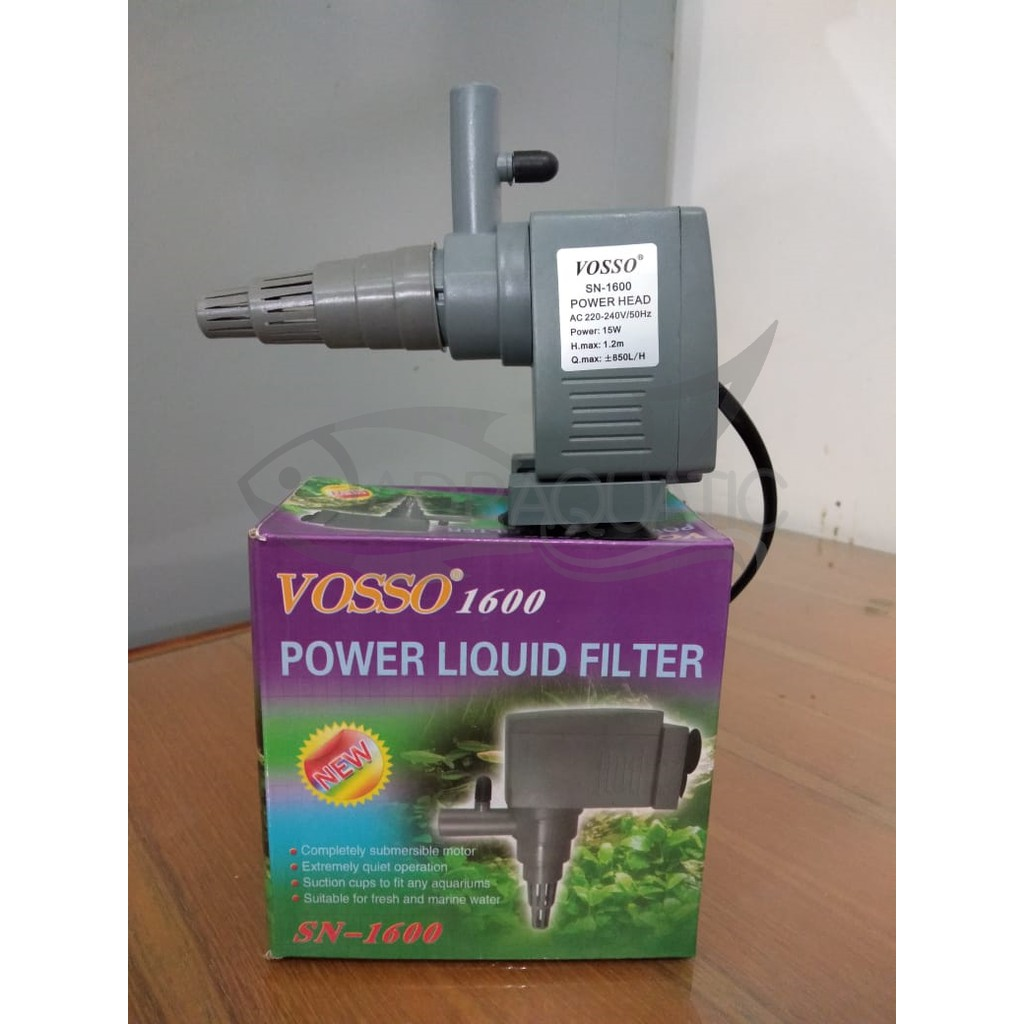 VOSSO 1600 POWER LIQUID FILTER POMPA AIR CELUP FILTER ...