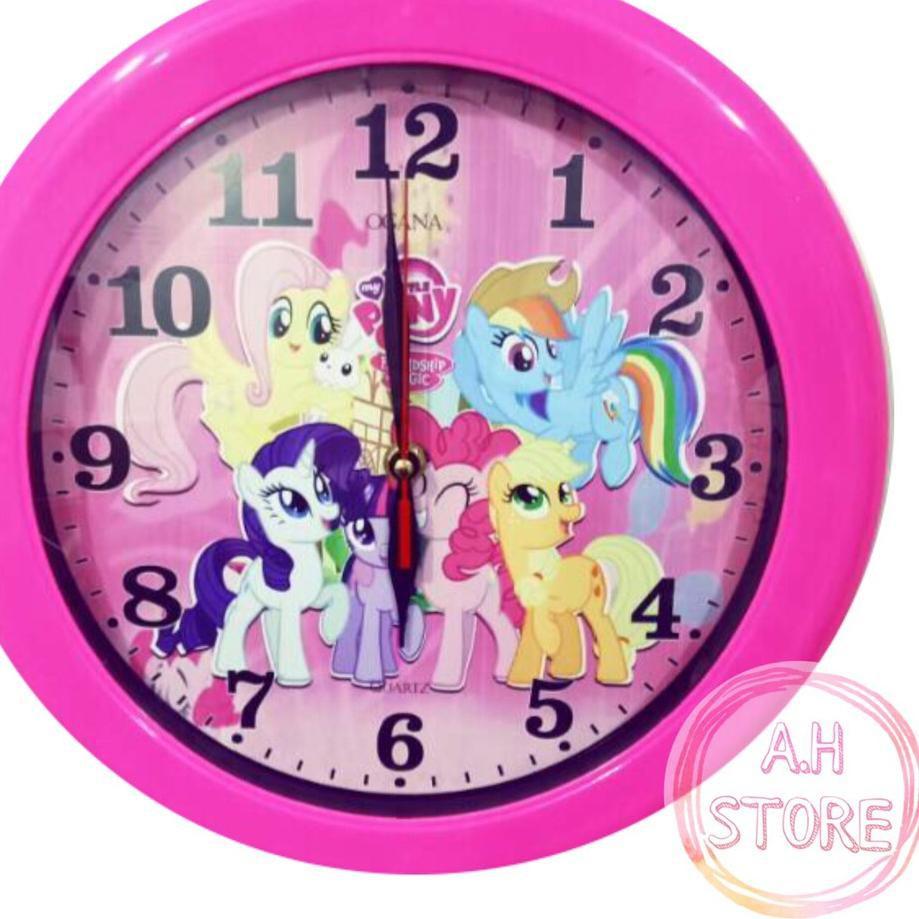Paling Laris Jam Dinding Little Pony Kuda Poni Kartun Pink Wall Clock Diameter 30 Cm Shopee Indonesia