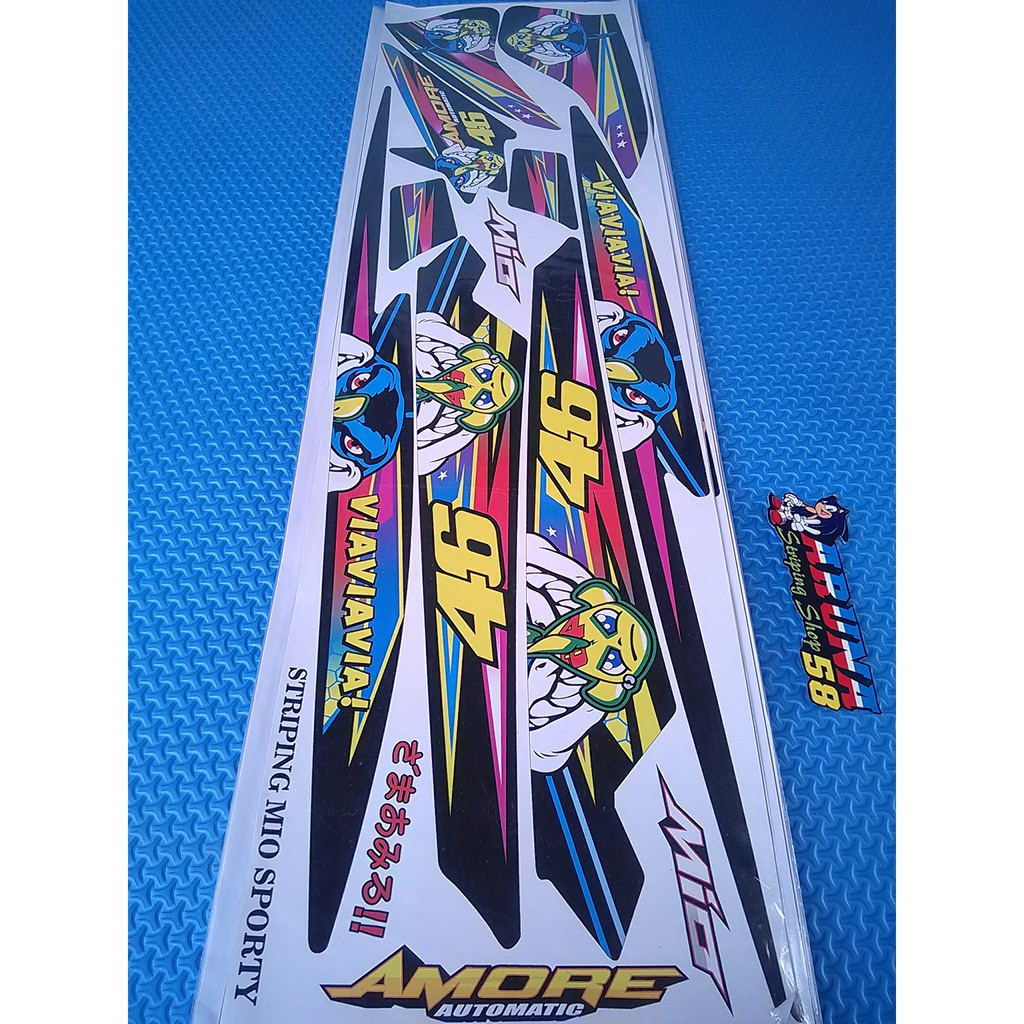 Striping sticker lis motor variasi yamaha mio sporty mio smile 46 1 6 shopee indonesia