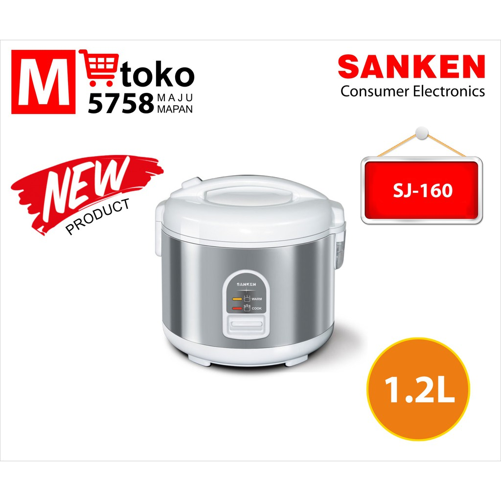 Sanken Rice Cooker Sj 160 12 L Silver Beli Harga Murah Cmos Magic Com 12l Crj10lj Magc 2100 18 Liter