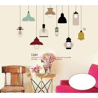 stiker dinding wallpaper 60x90cm motif karakter kata kopi