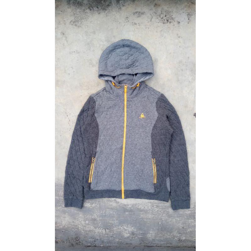 (COD)  Jaket zip hoodie le coq sportif import bahan tebel