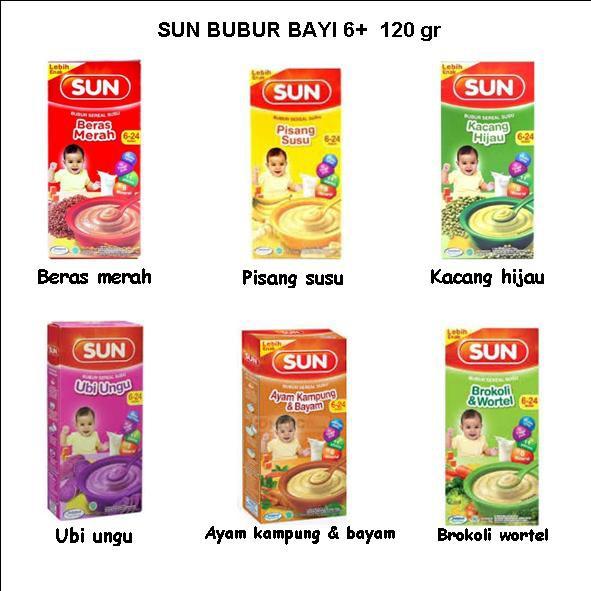 Sun Bubur Bayi 6 120 G 8 100 G Shopee Indonesia