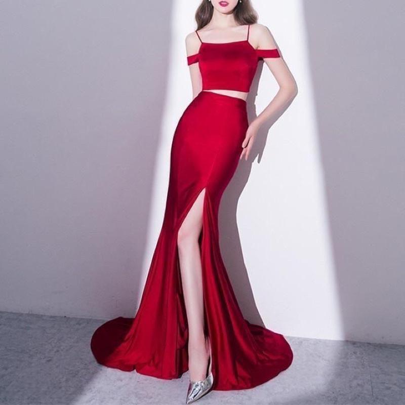 Julia Longdress Scuba Korean Fashion Bodycondresses Party Dress Shopee Indonesia