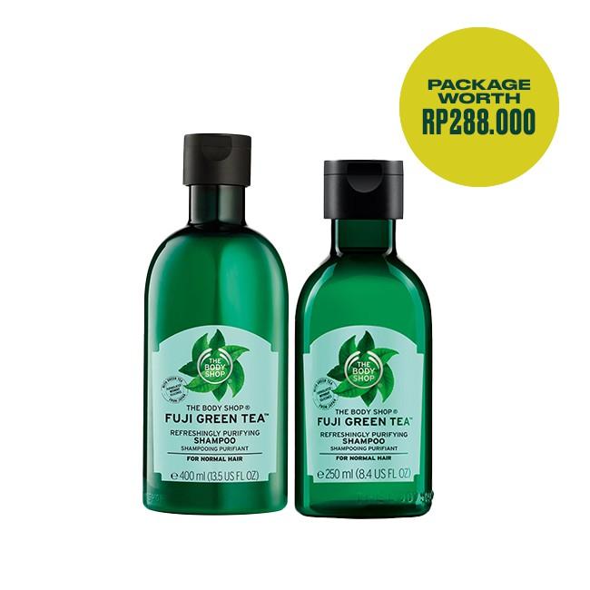The Body Shop Hair Care Package Duo Fuji Green Tea Shampoo